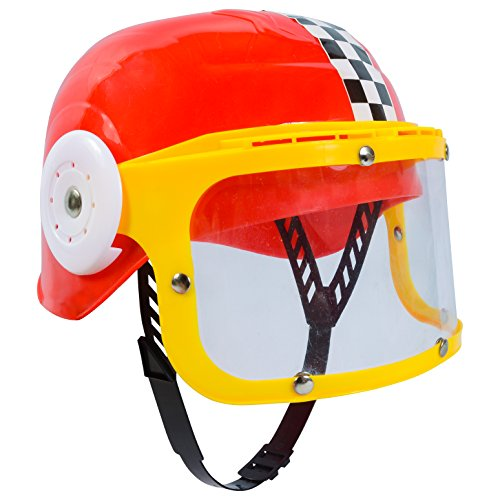 Dress Up Hats - Costume Racing Helmet - Hard Race Hat by Funny Party (Childs Racing Driver Costume)