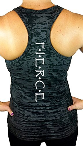 Women's Fierce Workout Burnout Racerback Tank Top M Black (Workout Racerback Tank compare prices)