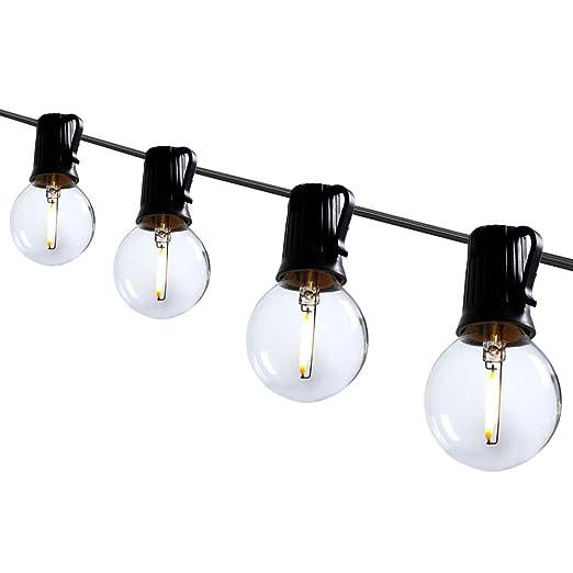 amazon com blu7ive led globe string lights with warm white g40 led