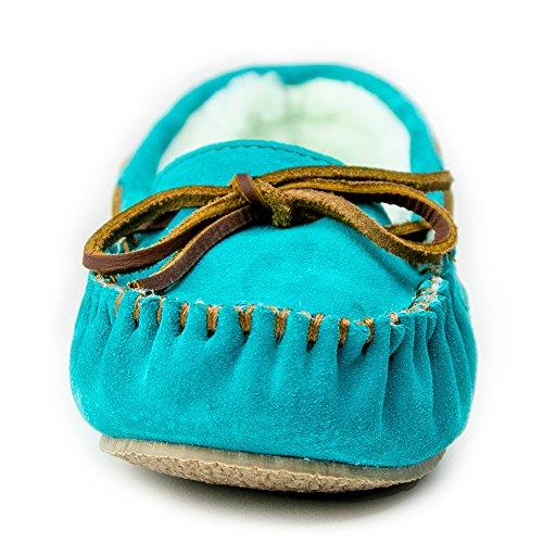 Faux Women's Slipper Fur Cally Minnetonka Turquoise qB6xTETw4