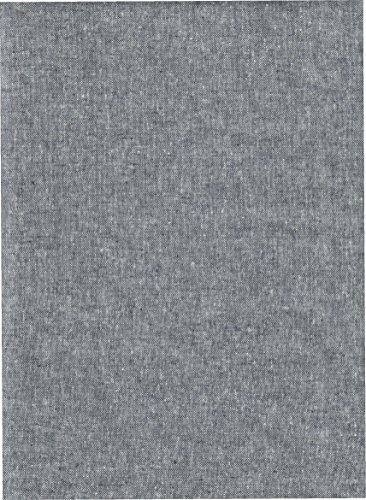 Robert Kaufman Essex Indigo Gray Blue Flax Linen Fabric ~ 55% Linen 45% Cotton ~ 43
