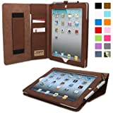 Snugg Leather Kick Stand Case for Apple iPad 2 - Executive Distressed Brown