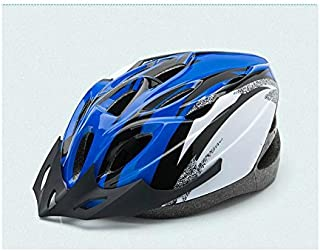 HSDDA Casco Deportivo Casco de Montar Bicicleta Ajustable de una Pieza Múltiples Orificios de ventilación Grande Equipo Ultraligero de Bicicleta (Azul) Proteja su Cabeza