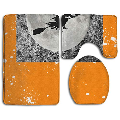 Best Door Mat Yes I Can Drive A Stick Halloween Mother's Day 3PC Bath Mat Rug Set Pattern Non Slip Toilet Seat Cover Rug Bathroom Set Decor (Size:35cmx 45cm/50cmx 40cm/80cmx 50cm)halloween Costumes Fo ()
