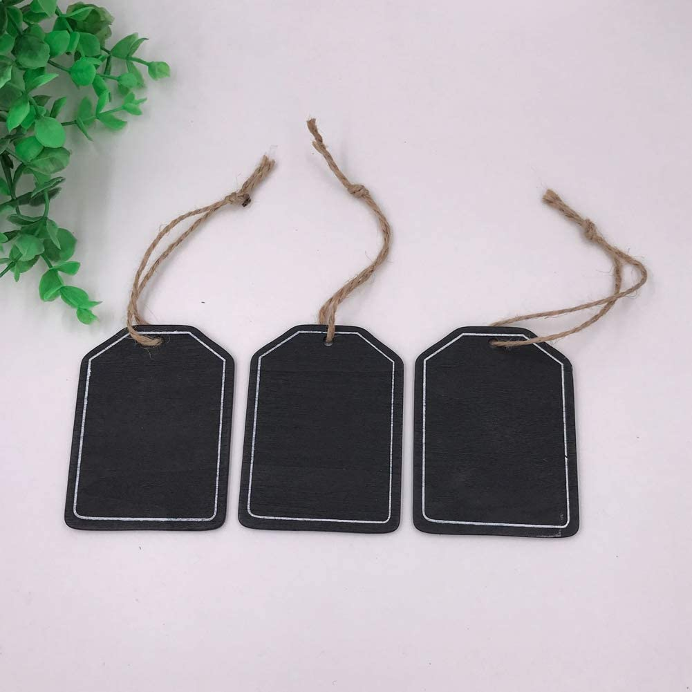 Fiestas para decoraci/ón de Bodas Pizarra Negro style2 Alivier Juego de 3 Mini pizarras de 8 x 5 cm para Colgar Pizarra