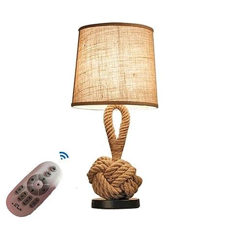 Lámpara de Mesa, Aura luz Regulable con Control Remoto ...