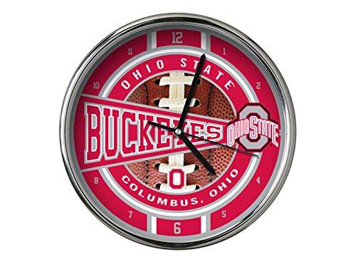 The Memory Company NCAA Ohio State University Go Team! Chrome Clock, One Size, Multicolor