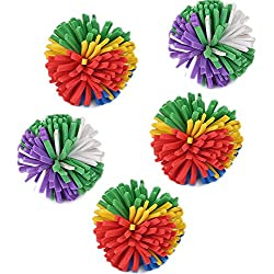 gainvictorlf Pet Supplies Colorful Ball Shape Feather Cat Kitten Biting Scratch Funny Playing Pet Toy Gift - Random Color Without Feather