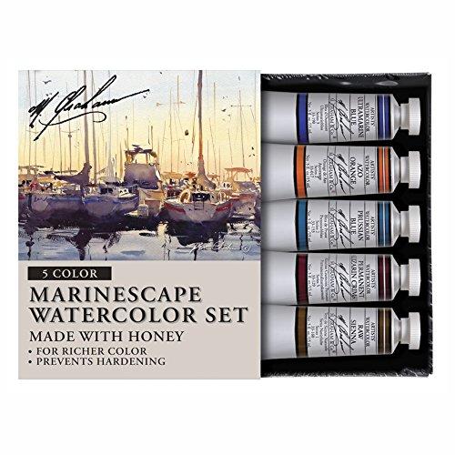 M. Graham Tube Watercolor Paint Marinescape 5-Color Set, 1/2-Ounce