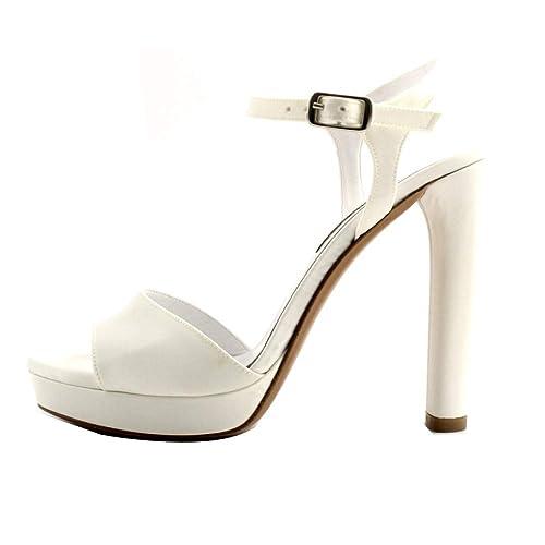 Sandalo in raso bianco da donna | Deichmann
