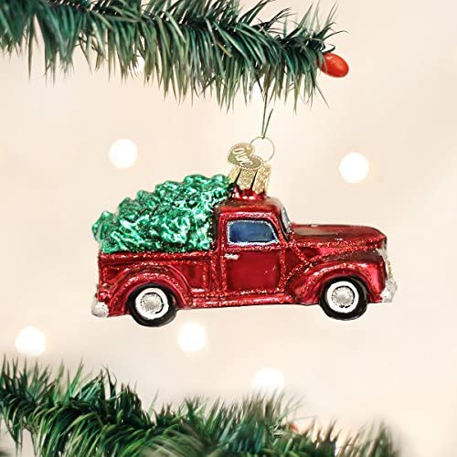 Old World Christmas Planes Trains Helicopters Boats Glass Blown Ornaments For Christmas Old Truck With Tree Home Kitchen