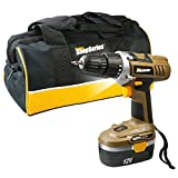 Positec Cordless Drill Driver with Battery & Charger, 12V