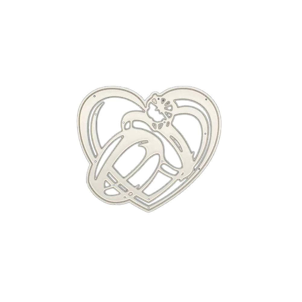 coraz/ón de metal plantilla bricolaje Kuizhiren1 troqueles de corte de metal /álbumes de recortes anillo de boda tarjetas de papel troqueles de corte