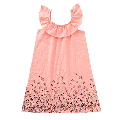 MOMOLAND Girls Knitted Sleeveless Ruffle Dress (4, (Knitted Ruffle Dress)