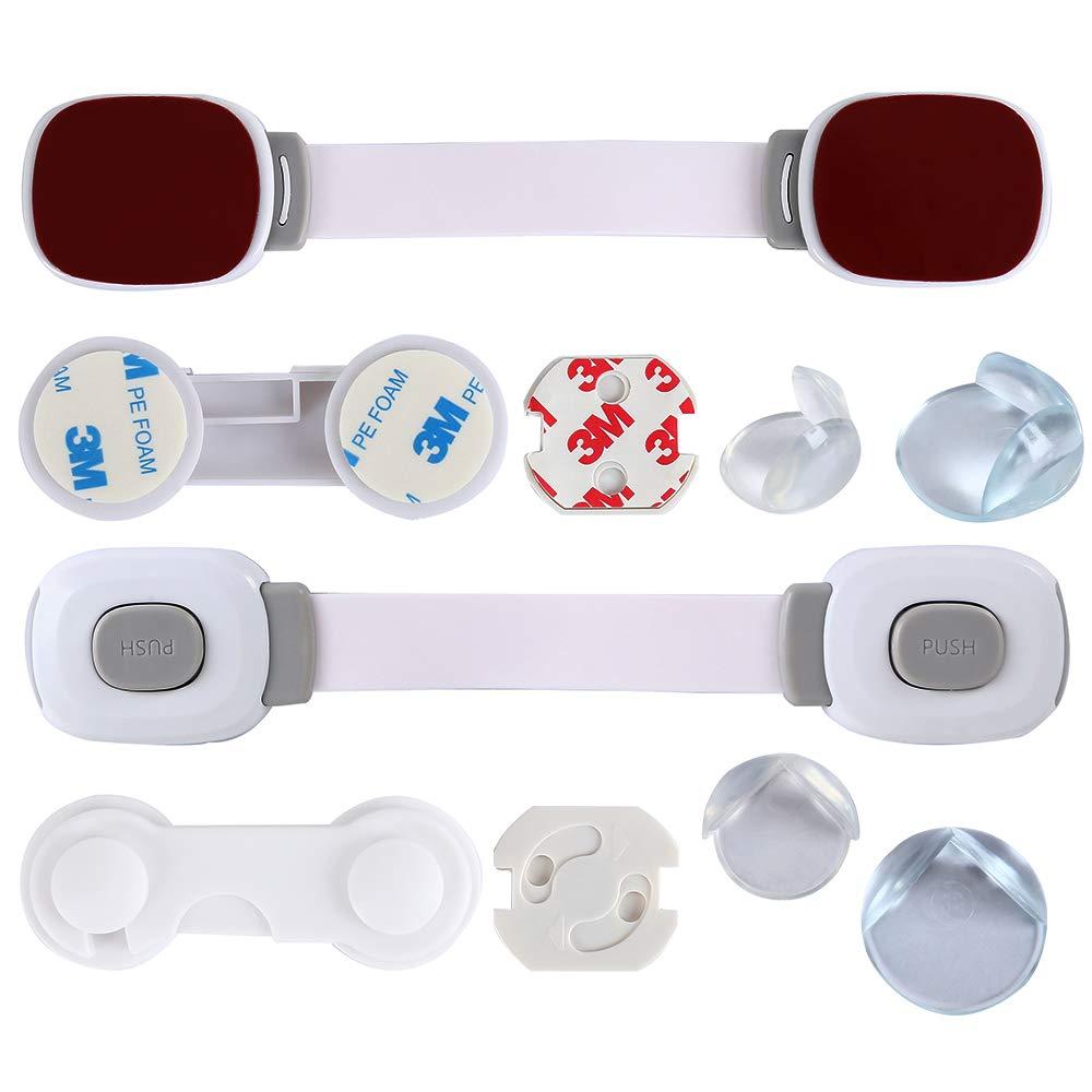 8x Eckenschutz Kinder Sicherheitsset Sicherheitsschutz Baby Kindersicherheit 43-teiliges Set 3x Universalsicherung 5x Schranksicherung 7x Klemmschutz f/ür die T/ür 20x Steckdosenschutz