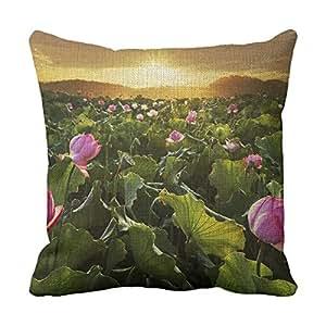 lettert Flores fundas de almohada decorativa almohada cuadrada 20x 20Chevron almohadas decorativas