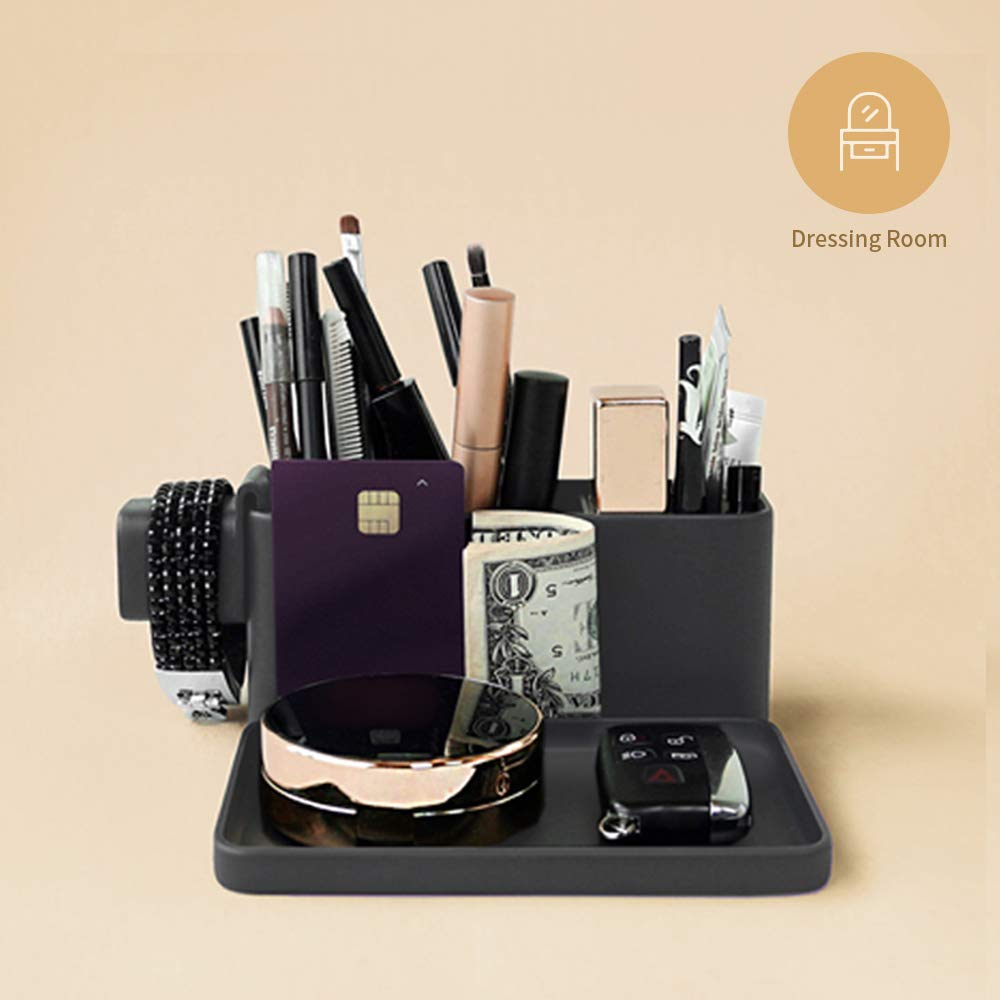 Brunt Vassoio da tavolo e organizer per piccoli oggetti accessori smart phone e orologi intelligenti Carbone articoli di cancelleria
