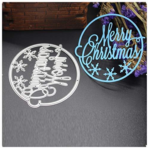 Cutting Dies,Pollyhb New Metal Cutting Dies Stencils Scrapbooking Embossing DIY Crafts,Merry Christmas House Angel Santa Claus Bell Deer Bird Gift,for Card Making Scrapbooking (K:81x75mm)