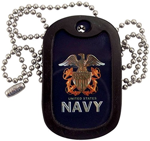 Military Dog Tags - U.S. Navy Logo Dog Tag Necklace - Tag-Z (Dog Navy Tag)