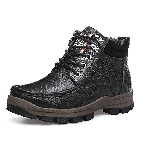 Merrick Plus Boots Decadent Winter Shoes Men's Hiking Fur Lined Chukkua Boot Leather SUNROLAN Faux Ankle Chocolate R0da7wRq