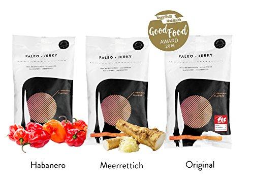 Paleo Jerky Premium Beef Jerky 3 Sorten Probierpaket