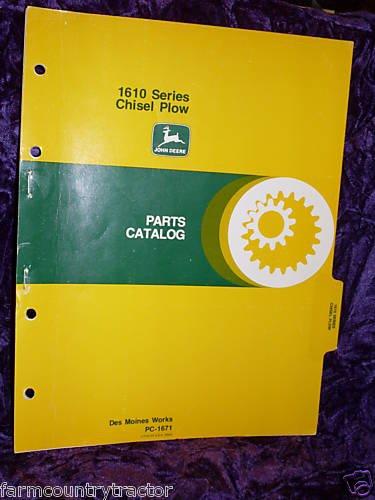 John Deere1610 Series Chisel Plow OEM Parts Manual ()