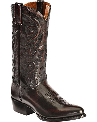 Dan Post Men's Mignon Leather Cowboy Boot Medium Toe Black Cherry 7 D(M) US