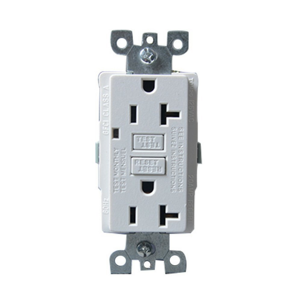 Four-Bros Lighting GFCI/20/WHT/TR/WR 20 Amp Gfci Outlet Receptacle 1 ...