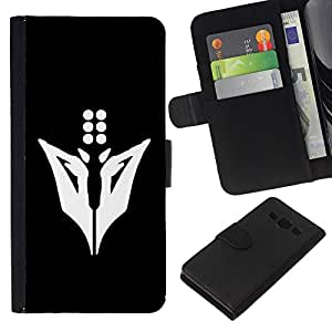 KLONGSHOP // Tirón de la caja Cartera de cuero con ranuras para tarjetas - Minimalista Animal - Samsung Galaxy A3 //