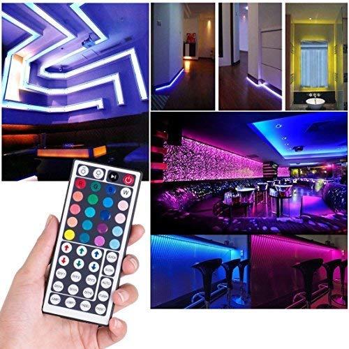 LEN Led Strip Lights 16.4 Feet Waterproof 150LEDs 5050 RGB Light Strip Complete Kit by LEN (Image #7)