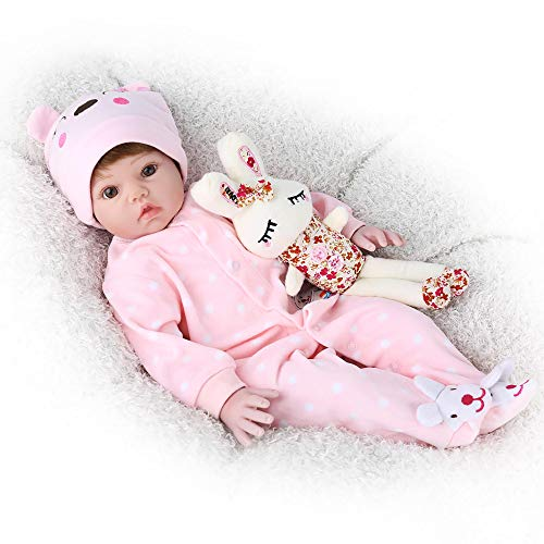 CHAREX Belly Reborn Baby Dolls, 22 Inches Realistic Baby Doll,Weighted Reborn Toddler Doll,Named Coral
