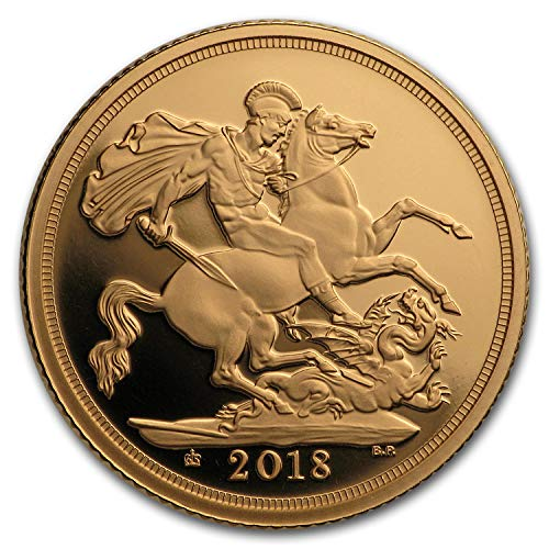2018 UK Great Britain Gold Sovereign Proof Piedfort Gold Brilliant Uncirculated