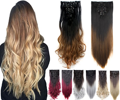 Delivery Straight Ombre Extensions Colors