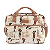 """Signare Ladies Tapestry Business Briefcase/Fashion Laptop/Computer Bag fit 15"""" - 15.6"""" - Miss London"""