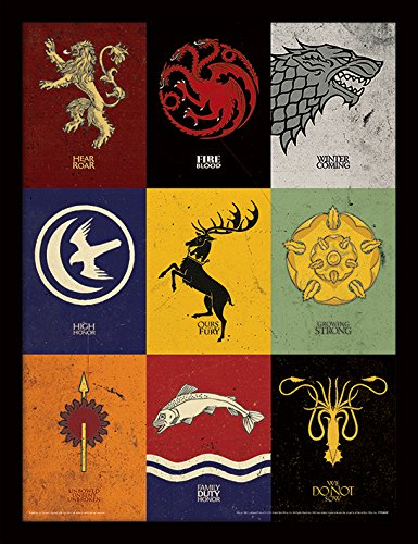 Game of Thrones 30 x 40 cm Sigils Framed Print Pyramid International FP11383P-PL