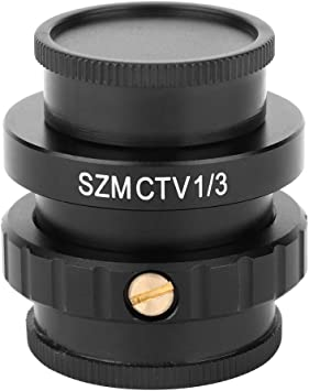 Comes with 1-1//8 0.5X C-Mount Objective Lens 1//2 CTV Adapter for SZM Video Digital Camera Trinocular Stereo Microscope