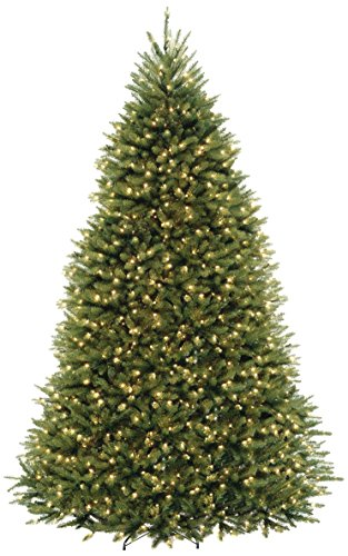 National Tree 9 Foot Hinged Dunhill Fir Tree with 900 Clear Lights, CSA (DUH3-90LO-4)