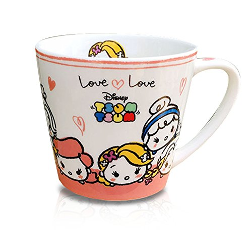 Finex Tsum Tsum Princess Aurora Rapunzel Cinderella Jasmine Ariel Snow White Belle Ceramic Coffee Mug Water Tea Cup White Small - Disney Atlantis Kida Costume