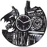 Batman Returns Gotham City, Best Gift Man, Vinyl Record Clock, Kovides Vinyl Wall Clock Home Decor, Valentines Day Gift For Boyfriend, Wall Clock Large, Comics Marvel Clock, DC Movie Gift