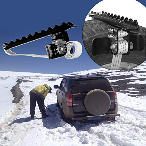 EZUNSTUCK Car Tire Anti-Skid Tool - RWD/AWD/4x4 SUV, Trucks, Pickup – EZ-S02LX Ultimate Get Unstuck Solution for Mud, Sand, Snow, ice, Off-Road - Better Than Traction Mat,Tire Chains (Large/Single)