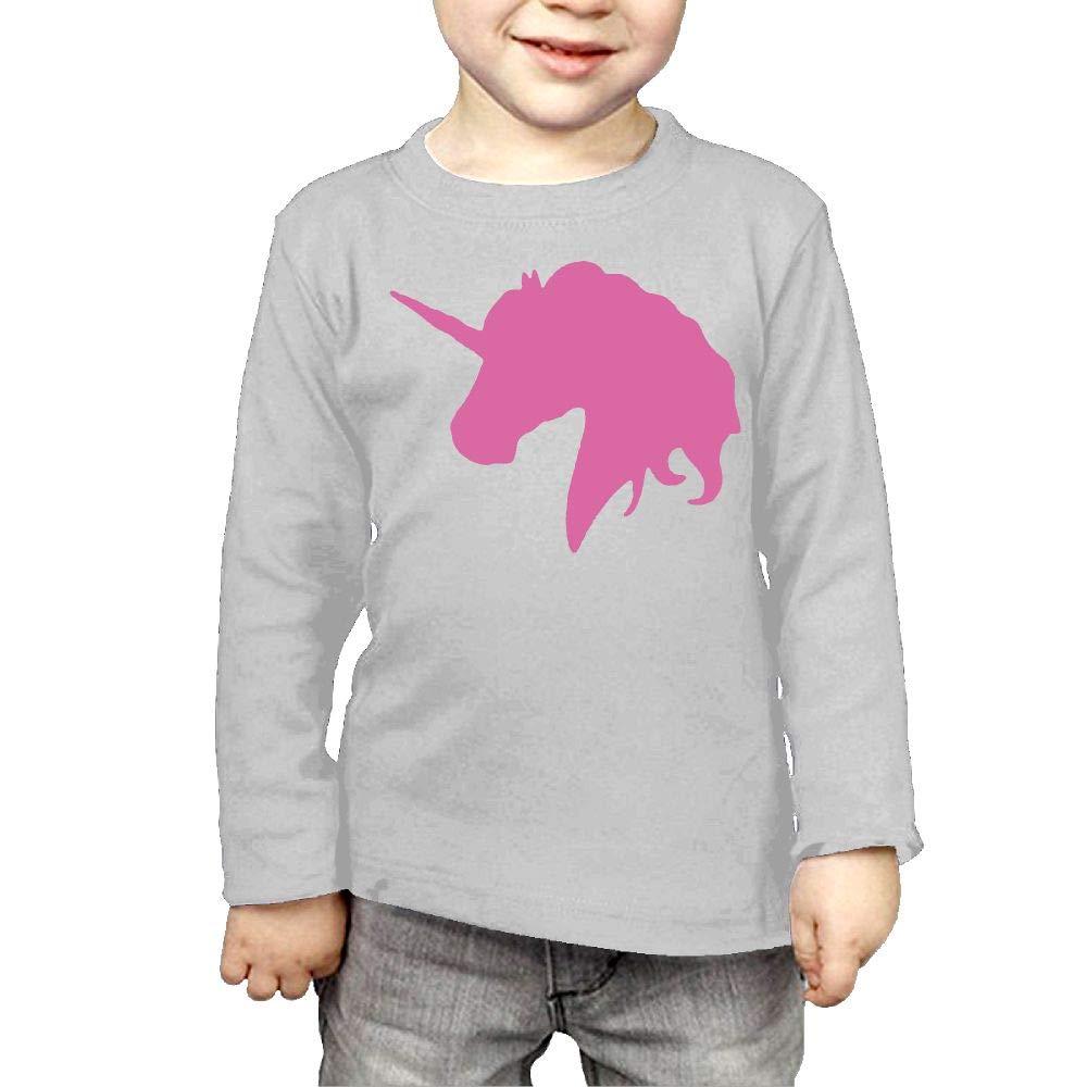 Newborn Kids Pink Unicorn Polo Horse Printed Long Sleeve 100/% Cotton Infants Tee Shirt