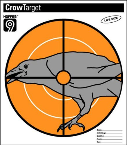 Hoppes Pistol Target (Hoppe's Critter Paper Targets - Crow, 10.5X12-Inch)