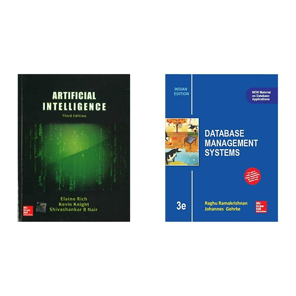 Combo of Artificial Intelligence + Database Management Systems (Set of 2 Books)