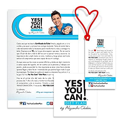 Yes You Can! Diet Plan Transform Kit Food Lover: Protein Shake Snacks, 30 Fat Burner Pills, 30 Appetite Suppressant Pills, 30 Colon Cleanser Pills, 30 Collagen Pills, 1 Bilingual Transform Guide (Spanish/english), 1 Shaker Bottle, 1 Yes You Can!™ Diet Pla