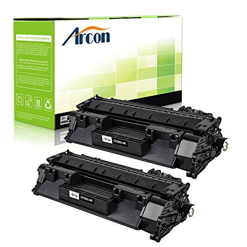 ARCON 2PK (6,900 pages) High Yield Compatible Toner Cartridge Replacement For HP 80X CF280X CF280 Used For HP LaserJet Pro 400 M401dne M401dw M401dn MFP M425dn ImageClass LBP6300dn LBP6650dn Black