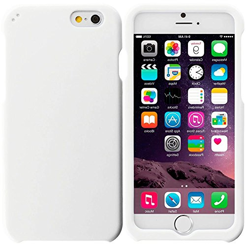 """myLife Frozen Mountain Top White {Professional, Modern and Stylish} 2 Piece Snap-On Rubberized Protective Faceplate Case for the NEW iPhone 6 Plus (6G) 6th Generation Phone by Apple, 5.5"""" Screen Version """"All Ports Accessible"""""""