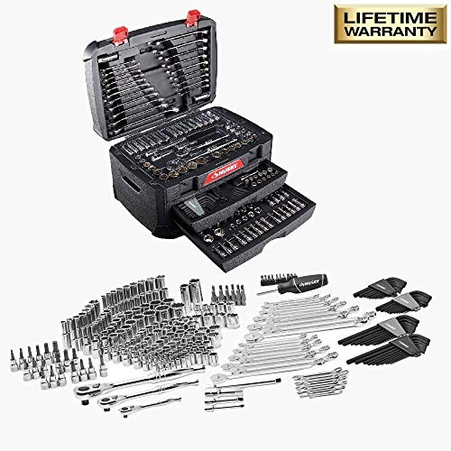 Mechanic Tools Automotive Professional Set (Husky 268-Piece). Box Tool Kit Stainless Steel for Car with all the Accessories the Men Need. Perfect Gift for Mechanics. Includes Ratchets, Sockets, Hex Ke