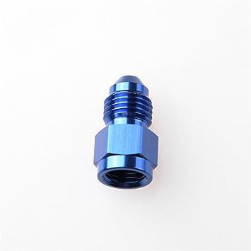 "6AN AN6 AN-6 To 3//8/"" NPT 90 Degree Male Fitting Adapter Aluminum Blue"