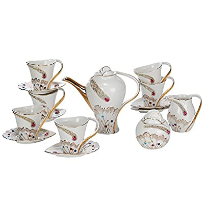 Gracie China Vintage Porcelain 11-Piece Tea Set