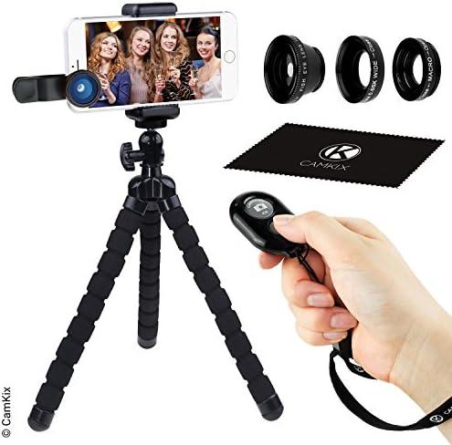 Smartphone Fotografie KitFlexibele Mobiele Telefoon Statief Bluetooth Afstandsbediening Camera Sluiter en 3in1 Lens KitUniversele Octopus podVisoog Macro en Wide Hoek Lensvoor iPhone en meer